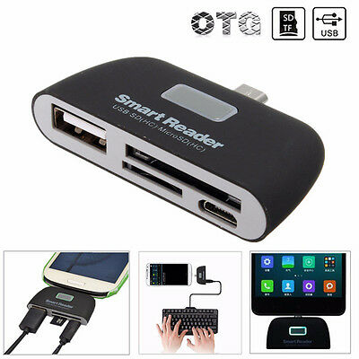 OTG Micro USB SD TF Card Reader USB 2.0 Adapter Connector For Tablet & Phone