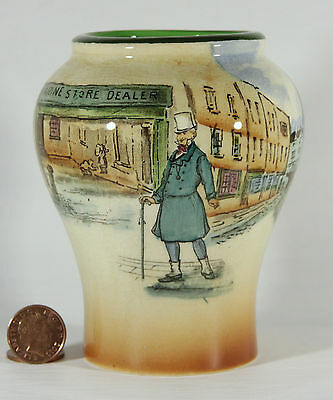 Small Royal Doulton Dickens Ware Baluster Vase – Mr Micawber