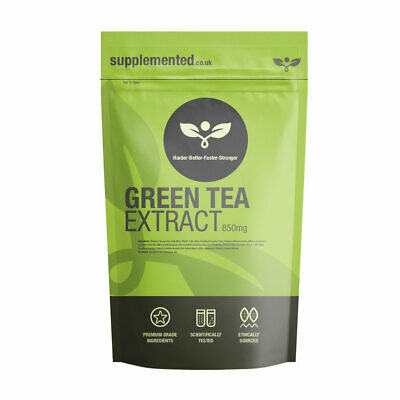 GREEN TEA EXTRACT 850mg CAPSULES Energy Weight Loss ✔UK Made ✔Letterbox Friendly