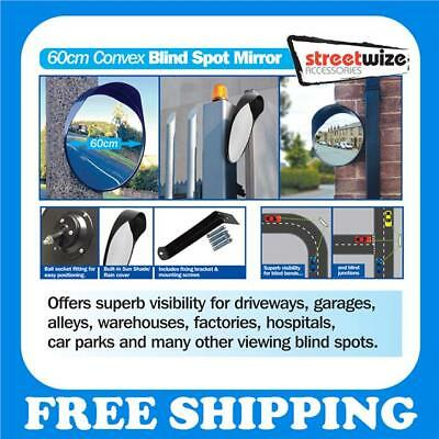 Convex 60cm Traffic Blind Spot Driveway Mirror. Safety & Security Vandal Proof