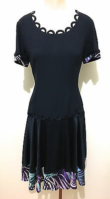 MOSCHINO CHEAP   CHIC Abito Vestito Donna Acetate Rayon Woman Dress Sz.M -  44 8fe06bc66f3
