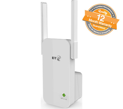 BT Essentials Wi-Fi Range Extender 300 Wi-Fi Connection to Your Hub/Router White