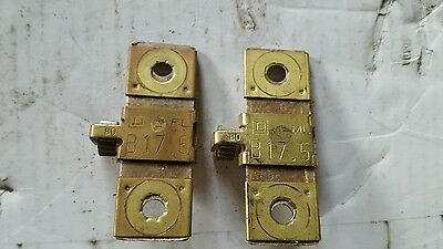 Lot of (2) New Square-D B17.5 Overload Relay Thermal Units