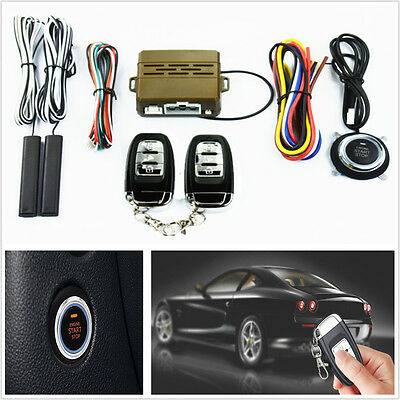 Car Security Keyless Entry Alarm System Push Button Engine Start Remote Starter