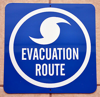 Hurricane Evacuation Route*new Novelty Sign*free Priority Shipping*weather