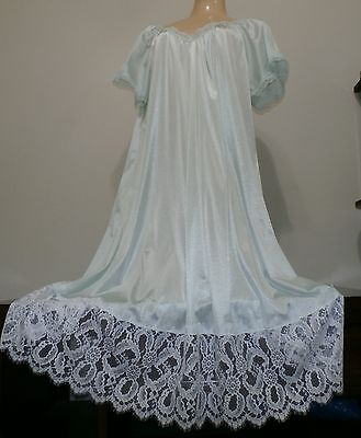 Vintage Extra Lacy Nylon Nightgown--Bust To 44""