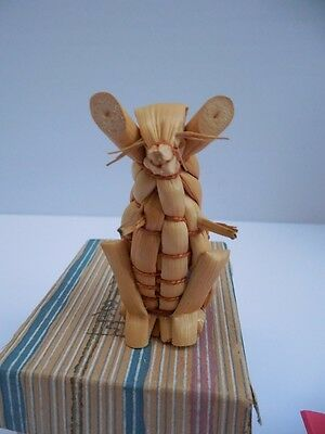 Vintage Mouse Rat Japanese Straw Figurine In Box 2 1/4""