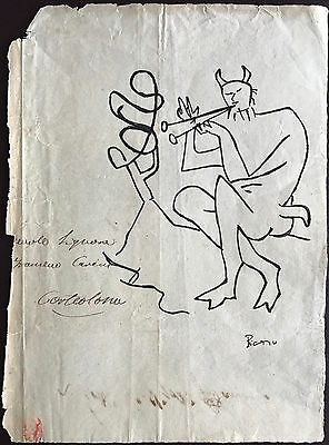 Picasso Original Pen Ink Hand Signed Drawing Mythical Figures