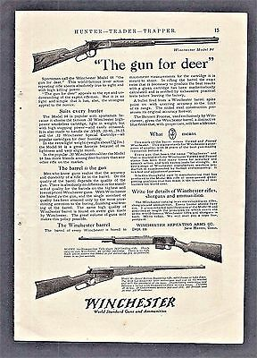 1917 WINCHESTER Print Ad ~ THE GUN FOR DEER ~ Models 94, 10, and 95 shown.