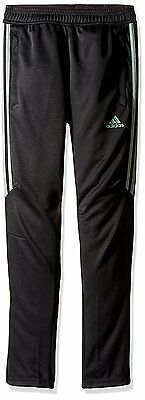 Adidas YOUTH Black/Trace Green Soccer Tiro 17 YOUTH Training Pants