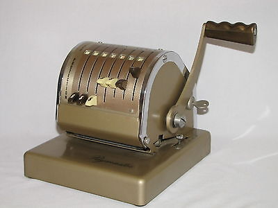 Vintage Paymaster x550 7 Column Check Writer with Key - Works