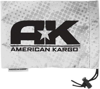 """American Kargo Goggle Cinch Bag White 10"""" x 7"""" Fleece Lined Water Resistant"""