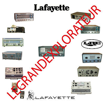 Ultimate LAFAYETTE  Ham Radio Operation Repair Service Manuals  250 PDF manual s