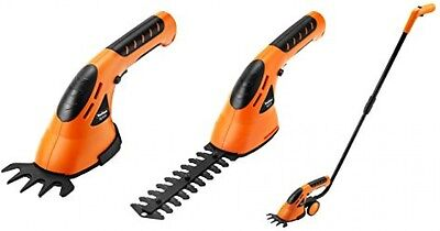 VonHaus 2 In 1 Cordless Grass Shears Hedge Trimmer Handheld Wheeled Extension