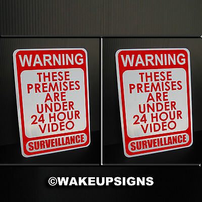 "Lot2) Warning Premises Video Surveillance Sign Aluminum 7"" By 10"" Outdoor Metal"