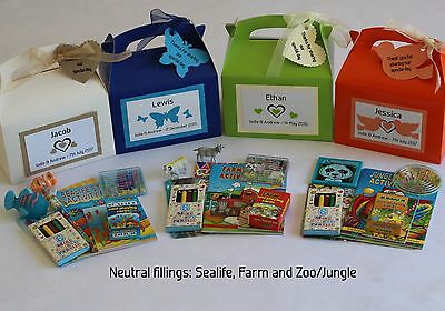 Children's personalised wedding favours - Activity boxes/ Pre-filled & themed