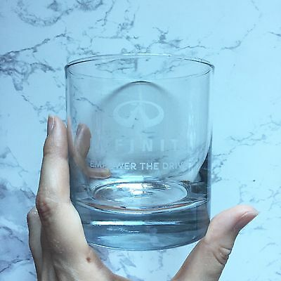 """1 New Infinity Whiskey Glass """"Empower The Drive"""" 3.5"""" Tall, 3"""" Wide"""
