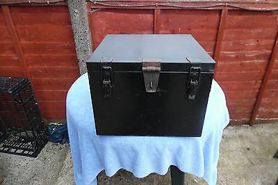Vintage Heavy Metal Strong Box For Deeds Documents Valubles Etc