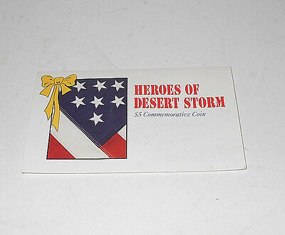 Heroes of Desert Storm $ 5 Commemorative Coin1991 Marshall Islands UNCIRCULATED