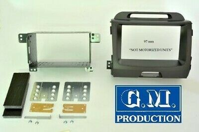 """Panel set support Double 2 Din for KIA SPORTAGE in grey 6,5"""" powered"""