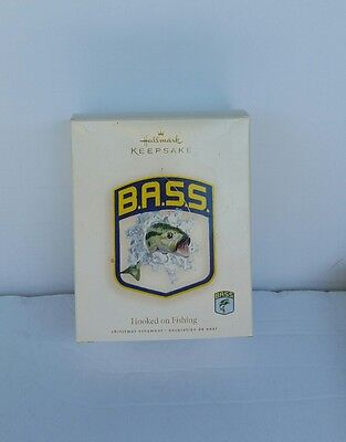 Hooked On Fishing 2007 HALLMARK Ornament - Fishing - B.A.S.S Bass Fish