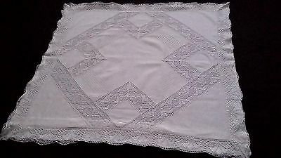 antique german pillow case with beautyful lace and flounces