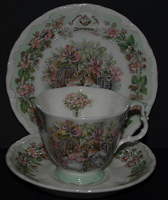 Brambly Hedge Royal Doulton Summer Cup Saucer Plate Trio 4 Seasons 1St Quality