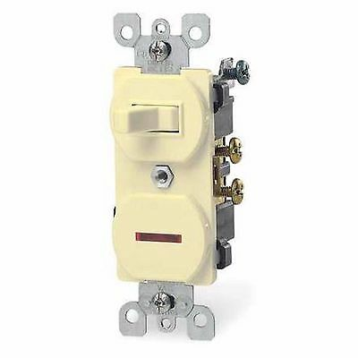 Leviton 5226-i Combination Switch and Pilot Light 15A-120V, ivery