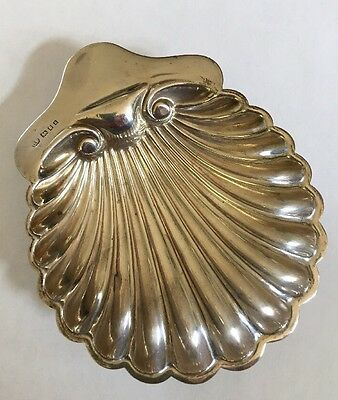 Antique English Sterling Silver Shell Dish - DP (?) London