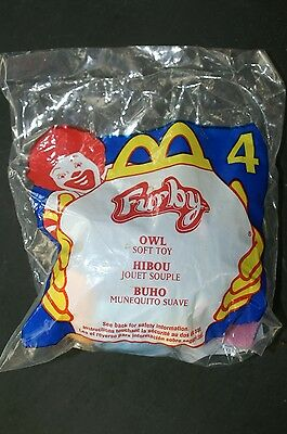 McDonald's Happy Meal Toy Tiger Electronics Furby Soft Toy NIP 2000 #4 OWL