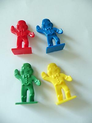 Candy Land Game - 4 x Gingerbread Men Pawns Part Only - Candyland
