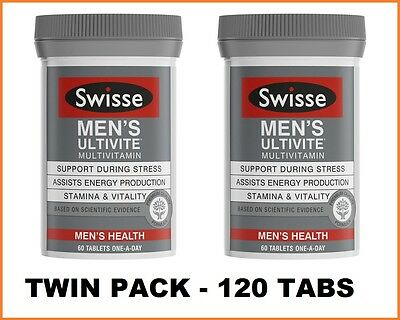 Swisse Mens Ultivite 2x60 Tablets | TWIN PACK 120 Tabs | 4 Months Supply