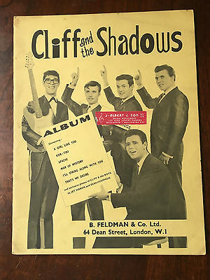CLIFF RICHARD & THE SHADOWS. UK Sheet Music Book