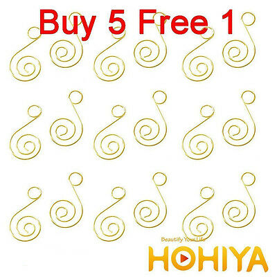 Metal 100pcs Gold Swirl Decorative Christmas Tree Ornament Hangers Hooks
