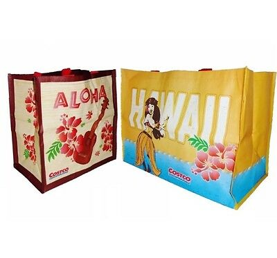 2 HAWAII EXCLUSIVE COSTCO Reusable Eco Large Shopping Bag Tote Hawaiian Aloha