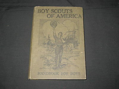 Boy Scout Handbook For Boys, 1911 printing , hardback          k3