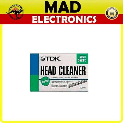 TDK VHS-C Head Cleaner Tape New In Package Model VCL-11 S-VHS-C