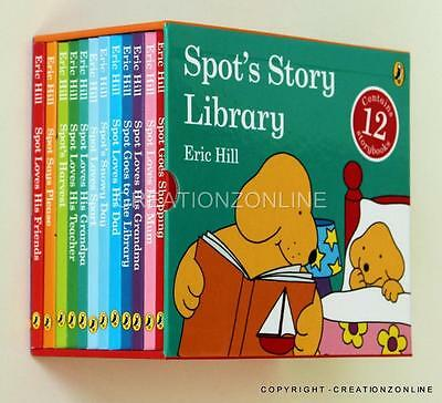 SPOT's Story Library 12 Story Book Set Collection Box Set Eric Hill New Spots