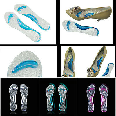 Gel Pad Arch & Metatarsal Support Massage Insoles for High-Heels Sandal