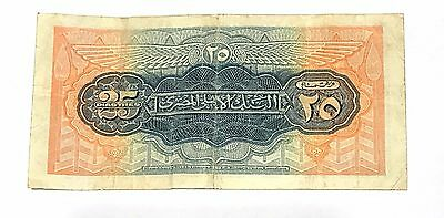 Old Egyptian money 1948 EGYPT 25 PIASTERES  PAPER MONEY CONDITION: VERY GOOD