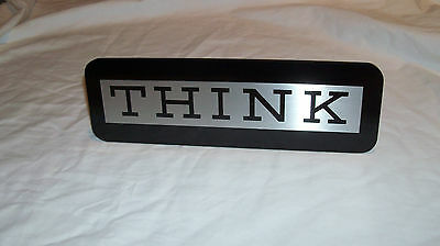 Authentic IBM THINK SIGN - Computer Desk Collectible Watson Executive