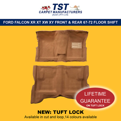 MOULDED CAR CARPETS (F09) FORD FALCON XR XT XW XY FRONT & REAR 67-72 floorshift