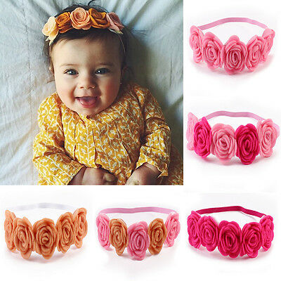 Toddler Kid Girl Baby Headband Newborn Bow Flower Hair Band Accessories Headwear
