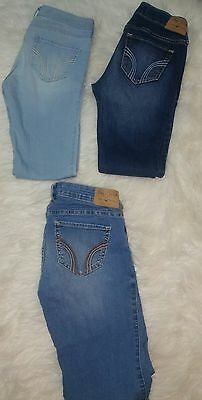 Hollister Jeans Lot of 3 Size 3R 3S Skinny Jeans Stretch Denim Size 3