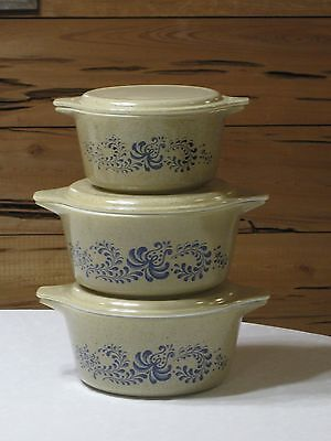 Vintage Pyrex Homestead 6 Pc, Casserole Set