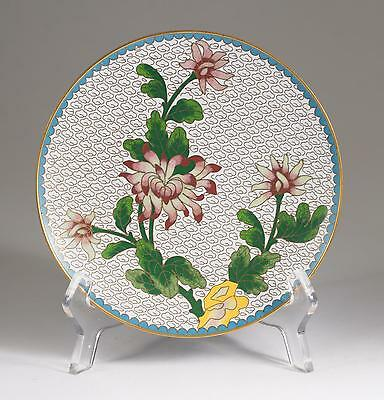 Very Fine Japan Japanese Cloisonne Floral Decoration Plate ca. 19-20th c. #2