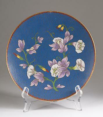 Very Fine Japan Japanese Cloisonne Floral Decoration Plate ca. 19-20th c.
