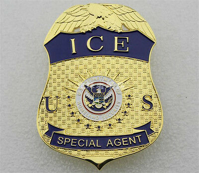 US SPECIAL AGENT ICE American Badges Copper Emblems Pins Badge Collectibles Cos