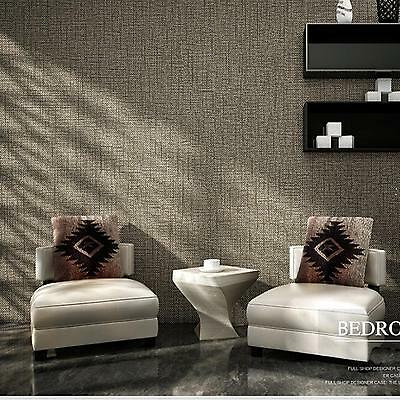 0.53M x 10M Classic Textured Strip Embossed 3D Feature Art Wall Paper Wallpaper
