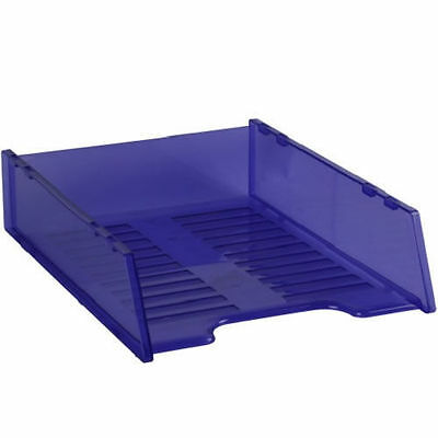 Italplast I60Tpr Multi-Fit Document Tray A4   Stackable Purple Tint Each 62A008